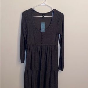 Wild Fable Gray Long Sleeve Dress